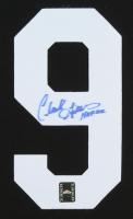 "Clark Gillies Signed #9 Jersey Number Inscribed ""HOF 02"" (Sportscards.com SOA) at PristineAuction.com"