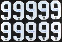 "Lot of (10) Clark Gillies Signed #9 Jersey Number Inscribed ""HOF 02"" (Sportscards.com SOA) at PristineAuction.com"