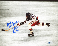 """Mike Eruzione Signed Team USA """"Miracle On Ice"""" 8x10 Photo Inscribed """"80 Gold"""" (Beckett COA) at PristineAuction.com"""