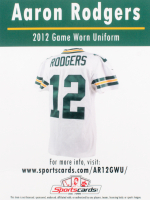 Aaron Rodgers 2012 Game Worn Jersey Piece at PristineAuction.com