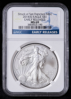2014(S) American Silver Eagle $1 One-Dollar Coin - Early Releases, Struck at San Francisco Mint (NGC MS69) at PristineAuction.com