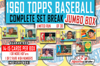 1960 Topps Baseball Complete Set Break JUMBO BOX – 14 Cards Per Box! at PristineAuction.com