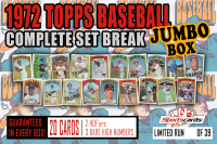 1972 Topps Baseball Complete Set Break JUMBO Mystery BOX – 20 Cards Per Box! at PristineAuction.com