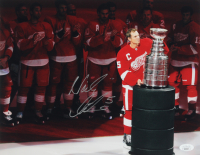 Nicklas Lidstrom Signed Red Wings 11x14 Photo (JSA COA) at PristineAuction.com