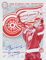 """Chris Osgood Signed Red Wings 11x14 Photo Inscribed """"3x Stanley Cup Champs"""" (JSA COA) at PristineAuction.com"""