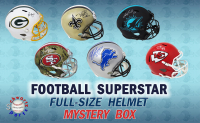 Schwartz Sports Football Superstar Signed Full Size Football Helmet Mystery Box – Series 17 (Limited to 150) at PristineAuction.com