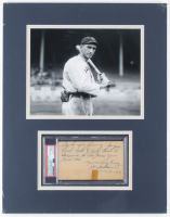 """""""Shoeless"""" Joe Jackson Signed 14x18 Custom Matted Cut Display With Extensive Inscription (PSA Encapsulated) at PristineAuction.com"""