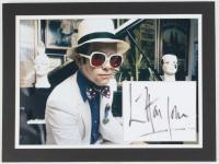 Elton John Signed 12x16 Custom Matted Fabric Display (JSA ALOA) at PristineAuction.com