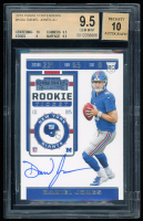 Daniel Jones 2019 Panini Contenders #102A Autograph Rookie Card (BGS 9.5) at PristineAuction.com