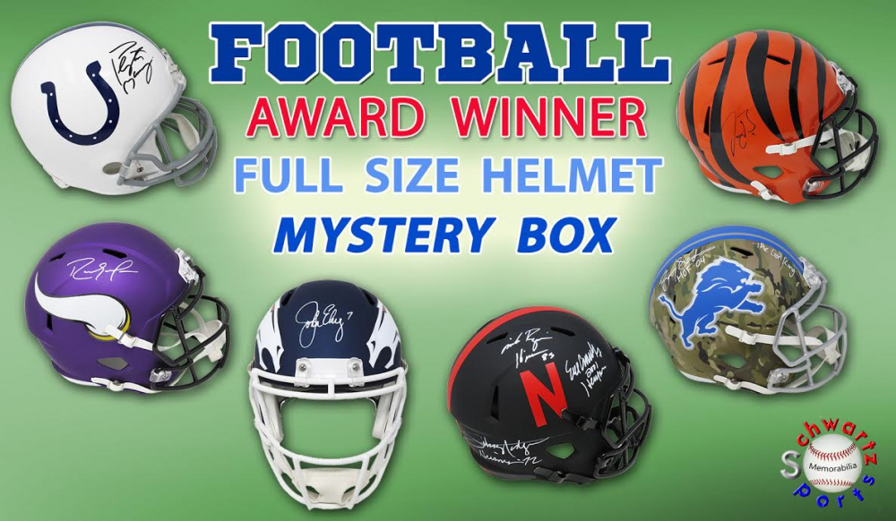 Schwartz Sports Football Award Winner Signed Full Size Helmet Mystery Box Series 1 (Limited to 100) at PristineAuction.com