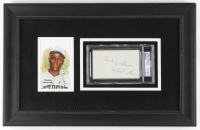 Turkey Stearnes Signed 13x20 Custom Framed Cut Display (PSA Encapsulated) at PristineAuction.com