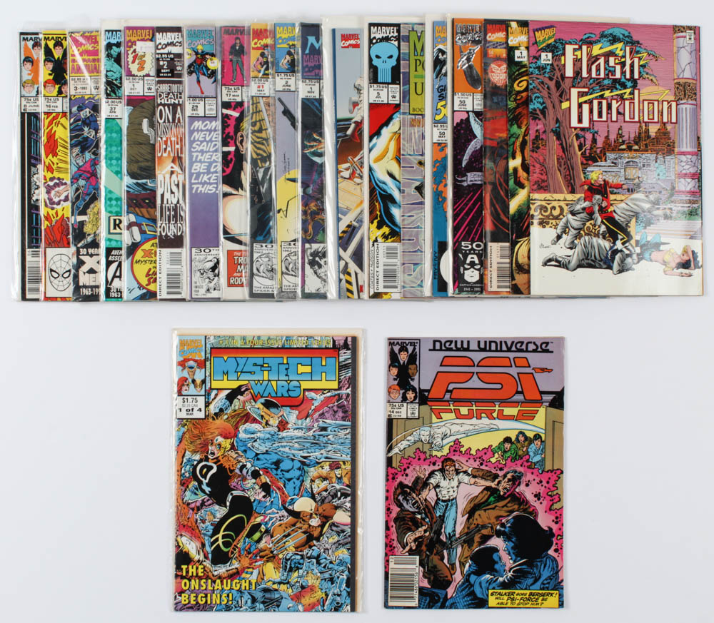 Lot of (21) Marvel Comics Comic Books Issues Ranging from #1 - #50 at PristineAuction.com