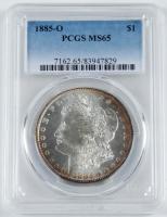 1885-O Morgan Silver Dollar (PCGS MS65) at PristineAuction.com