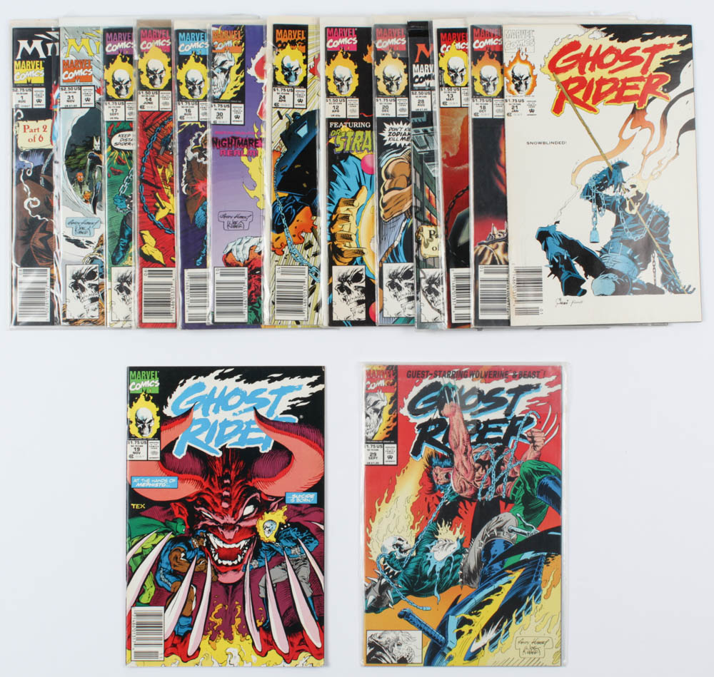 Lot of (21) Marvel Comics Ghost Rider Comic Books Issues Ranging from #1 - #31 at PristineAuction.com