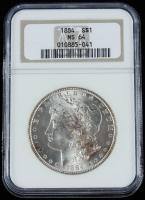 1884 Morgan Silver Dollar (NGC MS64) at PristineAuction.com