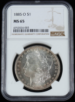 1885-O Morgan Silver Dollar (NGC MS65) at PristineAuction.com