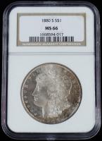 1880-S Morgan Silver Dollar (NGC MS66) at PristineAuction.com