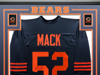 Khalil Mack Signed 34.5x42.5 Custom Framed Jersey (JSA COA) at PristineAuction.com