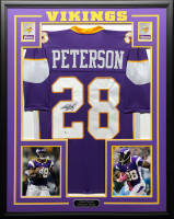 Adrian Peterson Signed 34.5x42.5 Custom Framed Jersey (Beckett COA) at PristineAuction.com
