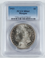1921 Morgan Silver Dollar (PCGS MS64) at PristineAuction.com