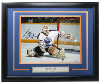 """Grant Fuhr Signed Oilers 16x20 Custom Framed Photo Inscribed """"HOF 03"""" (Beckett COA) at PristineAuction.com"""