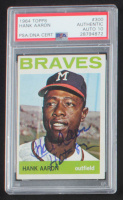 "Hank Aaron Signed 1964 Topps #300 Inscribed ""HOF 82"" (PSA Encapsulated) at PristineAuction.com"