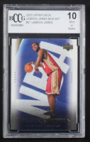 LeBron James 2003 Upper Deck LeBron James Box Set #21 (BCCG 10) at PristineAuction.com