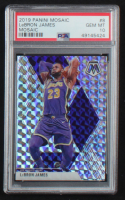LeBron James 2019-20 Panini Mosaic #8 - Mosaic Version (PSA 10) at PristineAuction.com