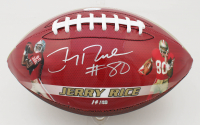 Jerry Rice Signed LE Official Jerry Rice 49ers Career Stat Highlight Football (JSA COA) at PristineAuction.com