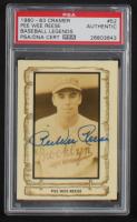Pee Wee Reese Signed 1980-83 Pacific Legends #52 (PSA Encapsulated) at PristineAuction.com