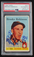 "Brooks Robinson Signed 1958 Topps #307 Inscribed ""HOF 83"" (PSA Encapsulated) at PristineAuction.com"