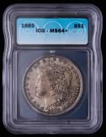 1885 Morgan Silver Dollar (ICG MS64+) at PristineAuction.com
