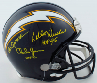 "Charlie Joiner, Kellen Winslow & Wes Chandler Signed Chargers Full-Size Authentic On-Field Helmet Inscribed ""HOF 96"" & ""HOF 95"" (JSA COA) at PristineAuction.com"