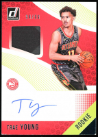 Trae Young 2018 Donruss Autograph Jersey #RMS-TYG RC at PristineAuction.com