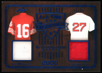 Joe Montana / Carlton Fisk 2019 ITG Used Sports All Time Enshrined Dual Memorabilia Navy Blue #ATE03 at PristineAuction.com