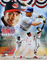 Roberto Alomar Signed Indians 16x20 Photo With Multiple Inscriptions (JSA COA) at PristineAuction.com