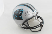 Christian McCaffrey Signed Panthers Full-Size Helmet (Beckett COA) at PristineAuction.com