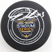 Tom Wilson Signed 2018 Stadium Series Logo Hockey Puck with Display Case (COJO COA) at PristineAuction.com