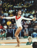 "Olga Korbut Signed 11x14 Photo Inscribed ""4x Gold"" & ""2x Silver"" (JSA COA) at PristineAuction.com"