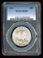 1963 50¢ Franklin Silver Half-Dollar (PCGS MS64) at PristineAuction.com