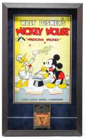 "Walt Disney's ""Mickey Mouse"" 16x25.5x1.5 Custom Framed 1950s Film Reel Display with Original Box at PristineAuction.com"