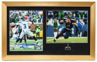Russell Wilson Signed Seahawks 14x22 Custom Framed Photo Display with Super Bowl XLVIII Pin (PSA COA & Wilson Hologram) at PristineAuction.com