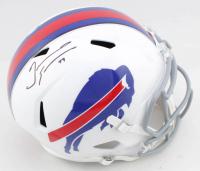 Tremaine Edmunds Signed Bills Full-Size Speed Helmet (Beckett COA) at PristineAuction.com