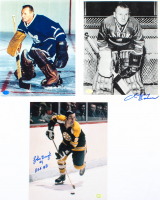 Lot of (3) Signed Hockey 8x10 Photos with Johnny Bower & John Bucyk with (1) Inscription (Stacks of Plaques COA) at PristineAuction.com