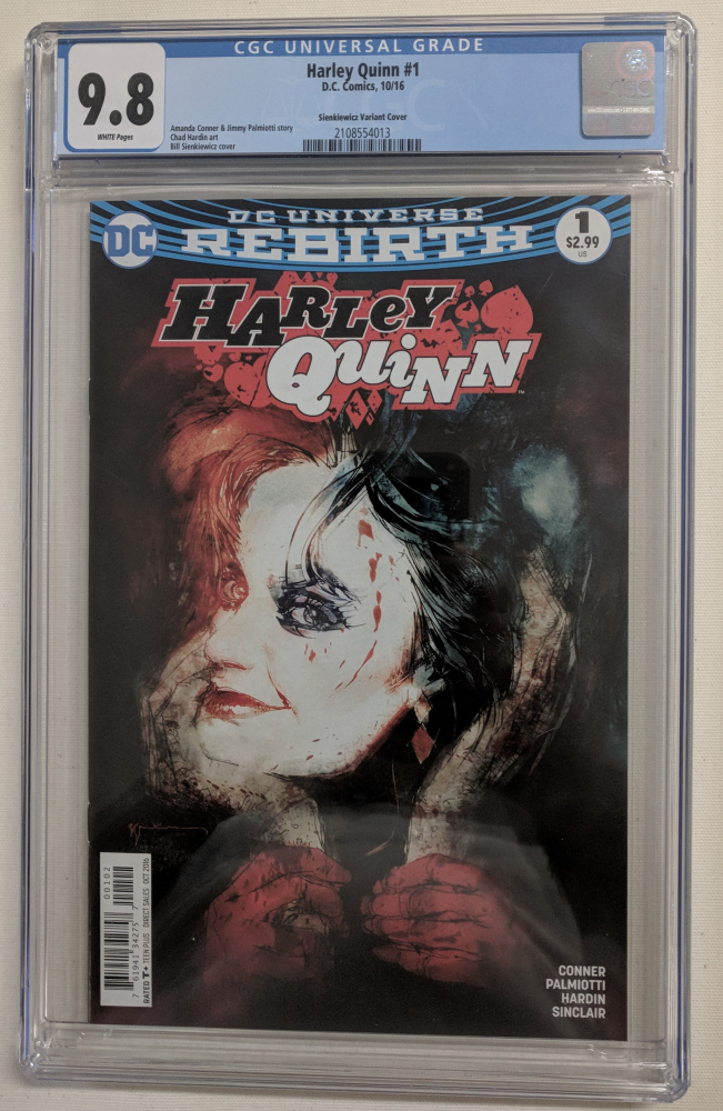 """2016 """"Harley Quinn"""" Issue #1 DC Comic Book (CGC 9.8) at PristineAuction.com"""