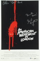 """David Naughton & Griffin Dunne Signed """"An American Werewolf in London"""" 11x17 Photo Inscribed """"Jack"""" & """"Beware the Moon!"""" (Beckett COA) at PristineAuction.com"""