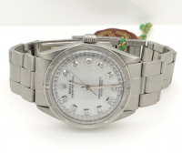 Men's Rolex Diamond Oyster Perpetual Wristwatch with Box & Papers at PristineAuction.com