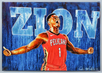 "Ike Rodriguez Signed ""Zion Williamson"" 22x32 Original Painting at PristineAuction.com"