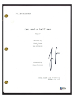 "Jon Cryer Signed ""Two and a Half Men"" Pilot Episode Script (Beckett COA) at PristineAuction.com"