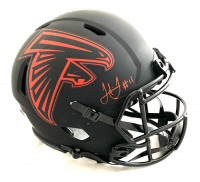 Julio Jones Signed Falcons Full-Size Authentic On-Field Eclipse Alternate Speed Helmet (Beckett COA) at PristineAuction.com